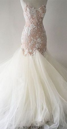 wedding dresses n- I hate the tulle , but the rest is lovely