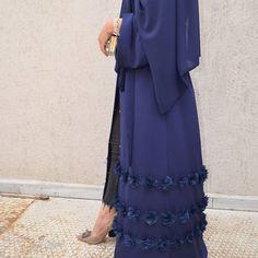 Navy blue abaya. #EsteeAudra özel koleksiyon #abaya #dubai