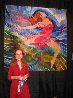 'On the Wings of a Dream' ~ Caryl Bryer Fallert won the Best of Show at the International Quilt Festival in Houston last week with HandiQuilter Best of Show Award.