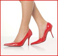 love patent red high heels - these are in Red by Pleaser. Comfy & affordable = shoes to love!