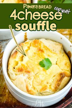 Panera Bread 4 CHEESE SOUFFLE! (aka Cheese Quiche) is a easy breakfast and brunch recipe. Great for entertaining, favorite family recipe. Creamy quiche with 4 flavorful cheeses. Serve with fruit salad for a celebration-worthy treat! #callmepmc #breakfast #copycat #recipe #eggs #cheese Brunch Recipes, Breakfast Recipes, Vegetarian Breakfast, Brunch Ideas, Breakfast Ideas, Dinner Ideas, Dessert Recipes, Best Vegetable Recipes, Great Recipes