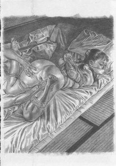 椋陽児のロリ美少女緊縛画20