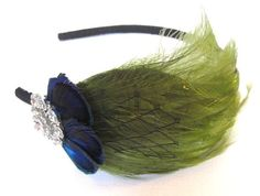 JACQUELINE peacock feather headband or fascinator by LovMely, $20.00