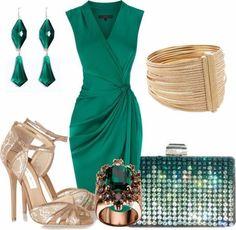 LOLO Moda: Night fashion for women by daniela.pic LOLO Moda: Night fashion for women by daniela. Classy Dress, Classy Outfits, Beautiful Outfits, Fancy Dress, Dress Outfits, Fashion Outfits, Womens Fashion, Green Dress Outfit, Dress Shoes