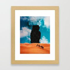 False Sky Framed Art Print by seamless Sci Fi Art, Framed Art Prints, Wall Tapestry, Moose Art, Digital Art, Gallery Wall, Sky, Wall Art, Illustration