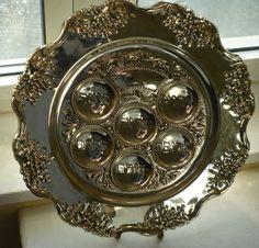 Judaica Vintage Godinger Grape design silver plated by shainkeit, $35.00