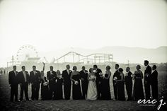 Santa Monica Pier.  I love it there, and how cool is this wedding shot.