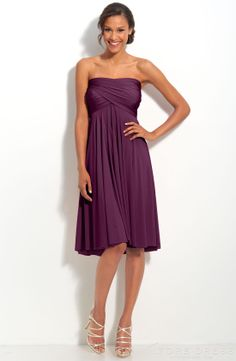 Delicate Sheath / Column Strapless Knee-length Bridesmaid Dress at Storedress.com
