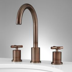 Exira Widespread Bathroom Faucet - Overflow - Oil Rubbed Bronze