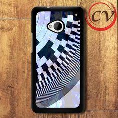 Abstract Liquid HTC One M7 Black Case