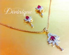 #Ruby Ad #Pendent Set With Free Chain #jewellery by #craftshopsindia