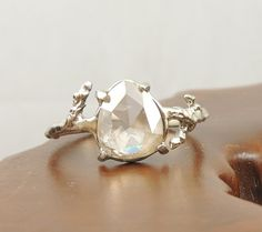 Diamond Branch Engagment Ring Handmade by PointNoPointStudio, $3200.00