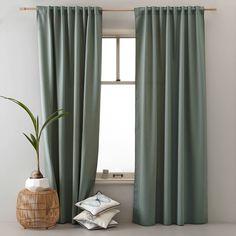 whkmp's own gordijn x 270 cm) Green Curtains, Drapes Curtains, Silk Drapes, Sage Green Bedroom, Custom Drapes, Bedroom Layouts, Window Design, Home Bedroom, Interior Inspiration