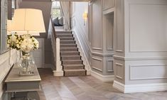 K-Club Private Project - Ventura Design Decor Interior Design, Interior Decorating, Stairwell Decorating, Narrow Hallway Decorating, Decorating Ideas, Decor Ideas, Ventura Design, Hallway Inspiration, Hallway Designs