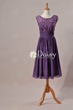 Old Lavender Lace Bridesmaid DressLace by DaisyBridalHouse on Etsy, $119.00