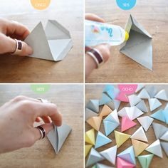 Origami for Everyone – From Beginner to Advanced – DIY Fan Origami Wall Art, Instruções Origami, Geometric Origami, Origami Love, Paper Crafts Origami, Origami Design, Diy Paper, Origami Folding, Paper Wall Art