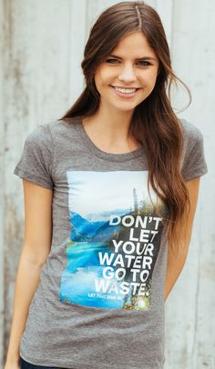 Wasting water is not cool. Especially when so many people all over the world don't have that luxury! This design featuring photography from Chris Burkard is a great reminder that finding little ways to conserve can make a world of difference! #Sevenly