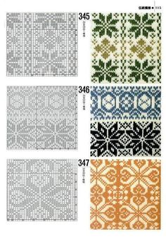 "an entire page of ""norwegian patterns"" for fair isle knitting Fair Isle Knitting Patterns, Fair Isle Pattern, Knitting Charts, Knitting Stitches, Knitting Designs, Knit Patterns, Stitch Patterns, Sock Knitting, Knitting Tutorials"