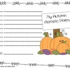 Literacy Activity: This acrostic poem writing activity hat goes with the book Autumn An Alphabet Acrostic, by Steven Schnur. Students create a list of words, pick one and make an acrostic poem. Library Lessons, Literacy Activities, Autumn, Fall, Acrostic Poems, Homeschool, Classroom, English Class, Teaching