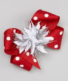 Take a look at this Red Sparkle Bow Clip by Picture Perfect Hair Bows on #zulily today!