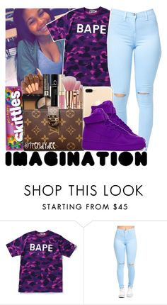 """💜✨😈"" by jjaylaspin ❤ liked on Polyvore featuring A BATHING APE and NIKE"