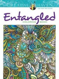 Entangled Art Beautiful Relaxing Stress Therapy Relieving Adult Coloring Books