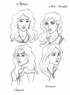 The Mayfair Witches. Angelique, Marie Claudette, Magueritte and Katherine.