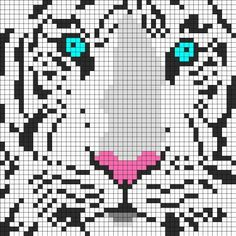 Animal Siberian tiger cross stitch.