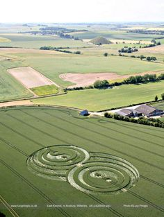 Double Yin and Yang crop circle