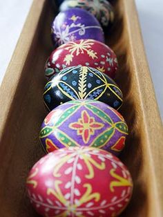 Ukrainian Easter Eggs (Pysanky) - its about time to get started if we're going to have them ready for Easter!