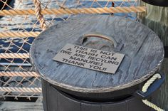 """The is not a trash can (We are recycling manure) Thank you!"" [Port Orleans Riverside Resort.]"