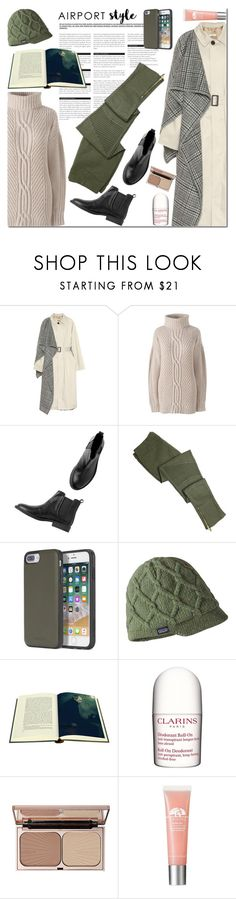 """airport 6"" by ozlem-ozcanb ❤ liked on Polyvore featuring Balenciaga, Lands' End, BoConcept, Monki, Diesel, Patagonia, Folio, Clarins, Charlotte Tilbury and airportstyle"