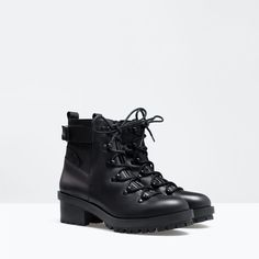 ZARA - NEW THIS WEEK - LACE-UP LEATHER BOOT