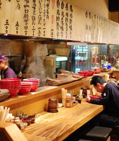 to watch in 2013 Ippudo, a noodle shop in serves up tasty ramen slowly simmered in pork bone broth. (Photo: Raymond Kan)Ippudo, a noodle shop in serves up tasty ramen slowly simmered in pork bone broth. Ramen Restaurant, Ramen Bar, Ramen Shop, Noodle House, Noodle Bar, Japanese Bar, Japanese Kitchen, Japanese Restaurant Interior, Japanese Interior