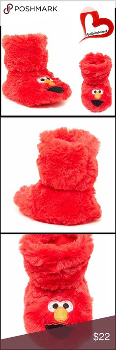 ELMO SLIPPERS Faux Fur Sock Slippers 💟NEW WITH TAGS💟  ELMO FAUX FUR SOCK SLIPPER  * Round toe  * Embroidered character detail  * Faux fur construction   * Slip on   * Super soft & cozy  * Lined   Material: 100% polyester  Color: Red Item#:   🚫No Trades🚫 ✅ Offers Considered*✅ *Please use the blue 'offer' button to submit an offer. Boutique Shoes Slippers