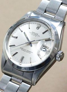 Rolex Oyster Perpetual DATE Ref.1500 Cal.1570 #rolex #vitagerolex #vintagewatch Rolex Watches For Men, Cool Watches, Rolex Wrist Watch, Wrist Watches, Vintage Rolex, Vintage Watches, Mens Fashion Suits, Mens Suits, Rolex Oyster Perpetual Date