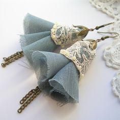 Cream lace - kolczyki vintage w Art_emida na DaWanda.com