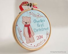 Hey, I found this really awesome Etsy listing at https://www.etsy.com/listing/192829096/personalized-babys-first-christmas