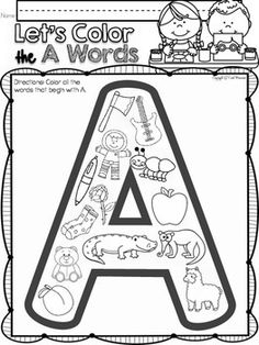 ALPHABET A LETTER OF THE WEEK For Your Letter Of The Week PHONICS