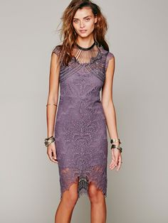 Shae Upper Body Chain & Intimately Peekaboo Lace Slip at Free People