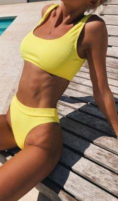 Brasilianischer Bikini, Sexy Bikini, Scrunch Bikini, Women Bikini, Bikini Bottoms, Sporty Bikini, Crop Top Bikini, Mode Du Bikini, Fitness Inspiration Body