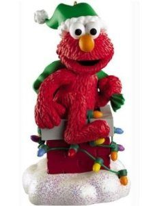 sesame street santa elmo christmas ornament hey elmo what are you doing in that