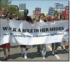 men's march to stop rape, sexual assault and violence.