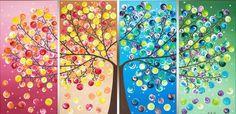 4 Seasons Captured in 1 Painting