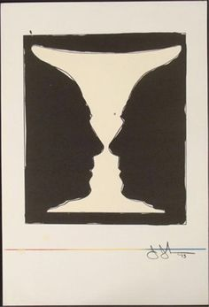 Available for sale from Hans den Hollander Prints, Jasper Johns, Cup 2 Picasso Color lithograph, 38 × 27 cm Picasso, Jasper Johns Paintings, Negative And Positive Space, Angela Carter, Art Hub, Sculpture, Optical Illusions, Vintage Advertisements, American Art