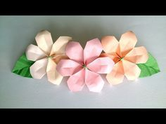 How to make Origami Hydrangea - Origami Flowers - YouTube