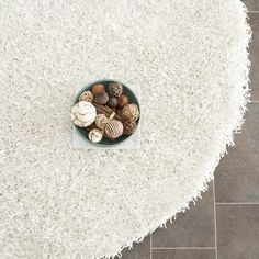 Salamanca Shag 5' Round White now featured on Fab.