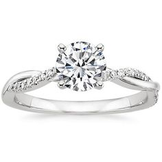 18K White Gold Petite Twisted Vine Diamond Ring from Brilliant Earth (I think this one is my favorite!)
