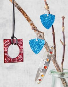 make jewelry using specialty enameling techniques - from Making Enameled Jewelry: Champlevé, Cloisonné, and Other Kiln and Torch Enameling Techniques - Jewelry Making Daily