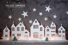 DIY : Village lumineux de Noël